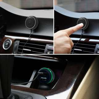 Bluetooth Hands-free Car Kit with NFC Function 2.1A USB Car charger +3.5mm AUX - S2531