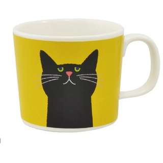 日本直送-日本品牌CUPPA 貓咪陶瓷杯 (2PCS) フローラルカッパ マグカップ マスタード