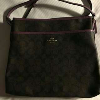 Authentic Coach sling bag and pouch