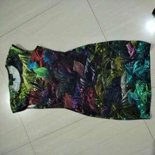TOP SHOP PARADISE BODYCON DRESS