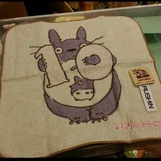 原裝 日本 宮崎駿 系列 Totoro 龍貓 月份 表達 小方巾 毛巾 Towel 23 × 23cm 10月份 Oct