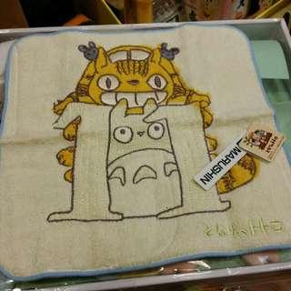 原裝 日本 宮崎駿 系列 Totoro 龍貓 月份 表達 小方巾 毛巾 Towel 23 × 23cm 11月份 Nov