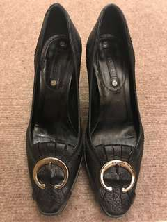 正品 Authentic Celine Black High Heel 黑色高踭鞋