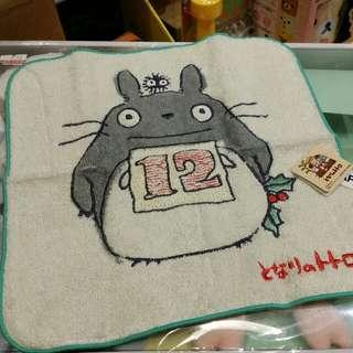 原裝 日本 宮崎駿 系列 Totoro 龍貓 月份 表達 小方巾 毛巾 Towel 23 × 23cm 12月份 Dec