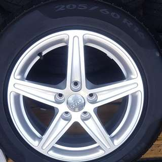 Audi rims and tyres 205/60/16