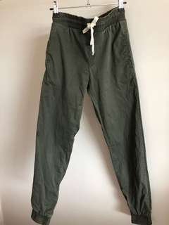 Subtitled khaki chino pants