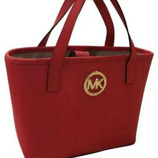 Michael Kors Saffiano Red Tote (small)