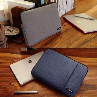 蘋果筆記型電腦包macbookpro 保護套 灰色14寸 簡約 手中的時尚 輕便 / 防碰撞 / 容量更大 / 加絨防水