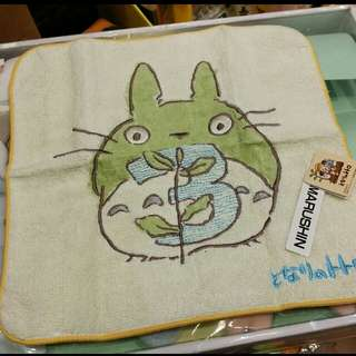 原裝 日本 宮崎駿 系列 Totoro 龍貓 月份 表達 小方巾 毛巾 Towel 23 × 23cm 3月份 Mar