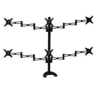 (AVR763) Monitor Desk Mount for 6 X Display to 24″  Call 87209646