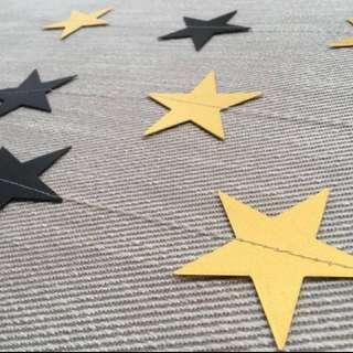 4m non glitter star garland