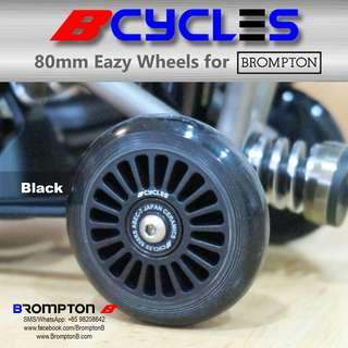 B-Cycles 80mm Eazy Wheels for Bromptons