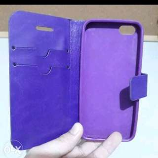 iPhone 5 Purple Flip case with card holder