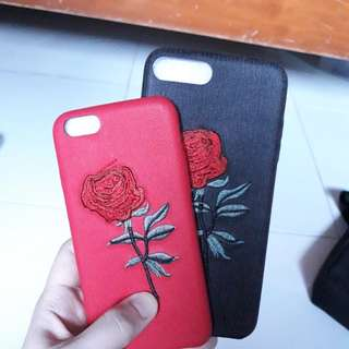iPhone 6 Plus and 7 Embroidered Roses case