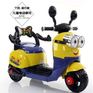Minions Scooter Rechargeable Toy Motorcycle