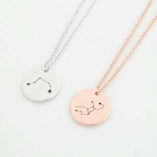[PREORDER] Custom Engraved Personalised Constellation Zodiac Necklace
