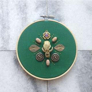 Ornamentals #6: Past // Mixed Media Embroidery Art