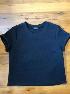 Dotti Black Tee Top