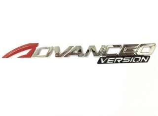 "Emblem ""Advance version"" for Perodua Alza"