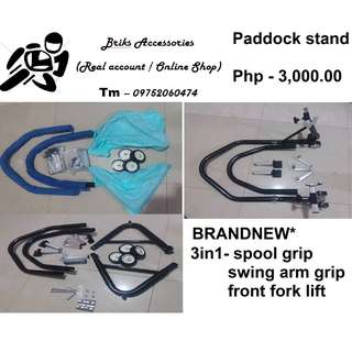 Paddock stand 3 in 1 Front and rear