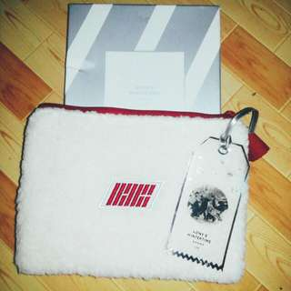 [OFFICIAL] iKON Wintertime Pouch w/unofficial Bagtags