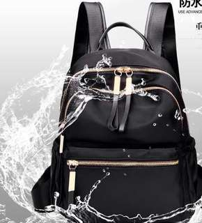 <Instock> Backpack Black size L, FREE long purse
