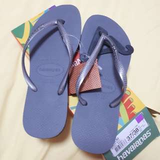 Steel Gray Havaianas Slim Flip Flops