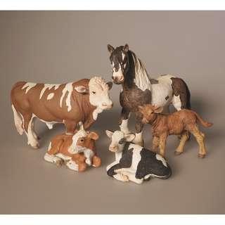 Schleich,  Papo, safari ltd and Collecta farm life animal toys