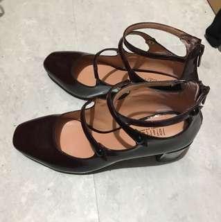 Joy&peace暗酒紅色鞋