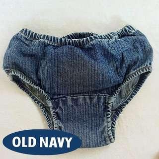 Overruns old navy denim bloomers  12-18 months