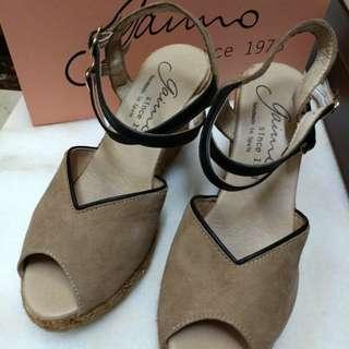 9成新 真皮手工西班牙高根涼鞋Gaimo 37號 定價6780