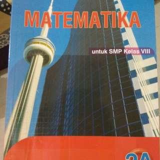 Buku Matematika kelas kls 8 semester 1 #UBL2018