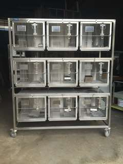 Stainless pet cage
