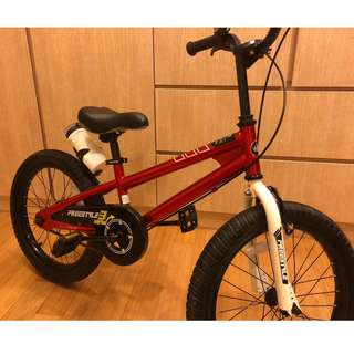 "Boys Bicycle - RoyalBaby 16"" Freestyle with stand & juice bottle (Dec'16)"