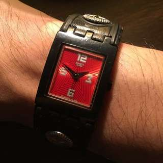 007 swatch watch red face
