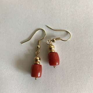 Coral Ear ring
