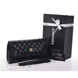 Chanel Hand Clutch with Box
