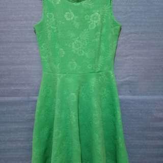 Dress kutung hijau tosca