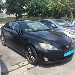 Lexus IS250 V6 2.5L 6-Speed Automatic       -(SG)-  Year 2009