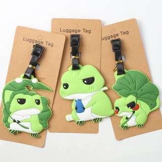 旅行青蛙  蛙的旅行周邊可愛卡通行李箱吊牌掛牌托運牌