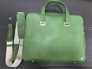 Alfred Dunhill grained-leather briefcase Dunhill 公事包