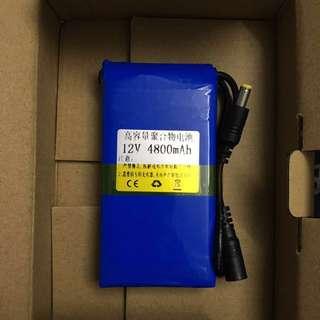12V 4800mah battery
