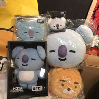BTS BT21 KOYA ITEMS