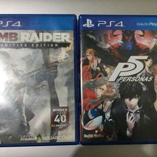 Persona 5 and Tomb raider