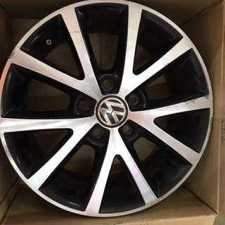 "16"" 5x112 vw original old wheel 1set $150"