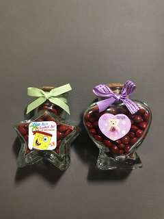 Saga Seeds in heart shape bottle star shape