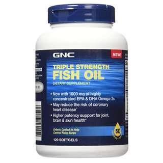 GNC Triple Strength Fish Oil 三倍魚油 120粒