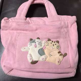 🚚 貓咪帆布小手提袋