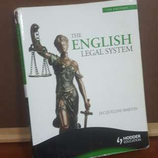 English Legal System by Jacqueline Martin 7th edition
