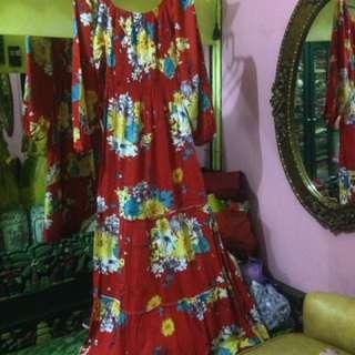 Dress bunga merah